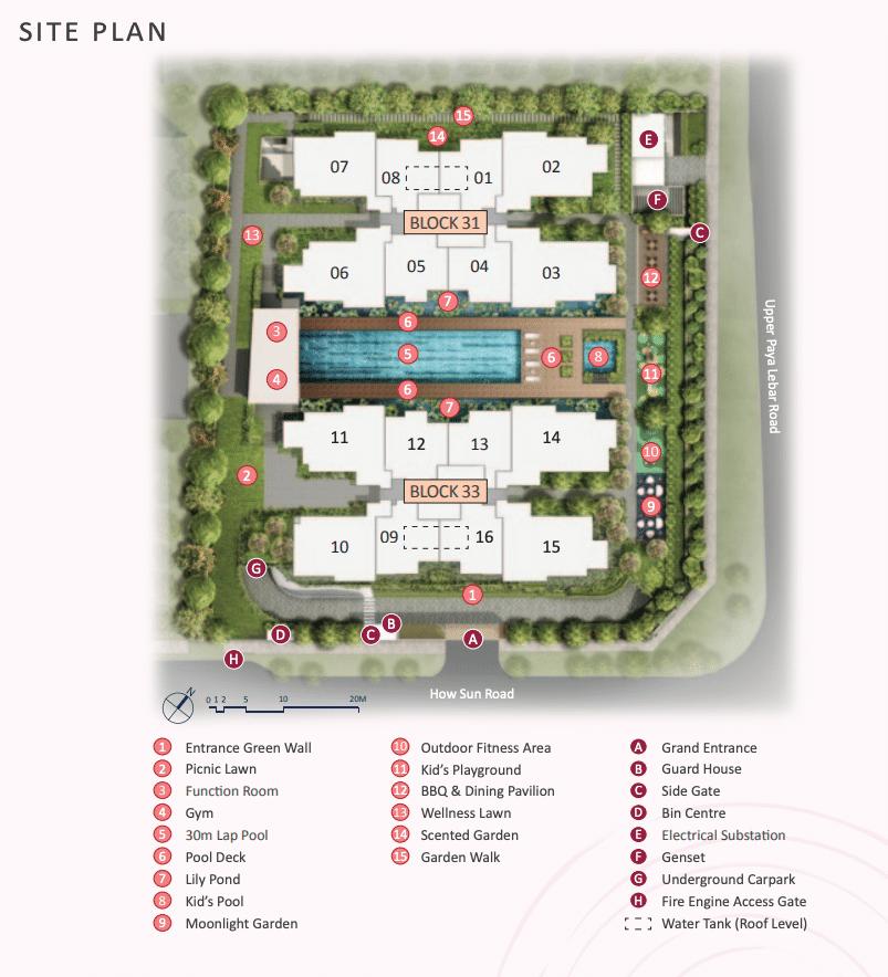 The Lilium Site Plan